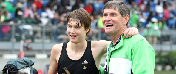 Lucas Verzbicas and Jim Ryun