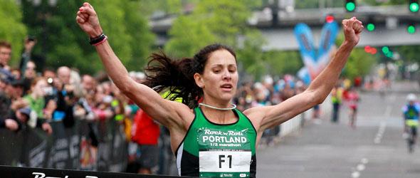 Kara Goucher wins Portland Half