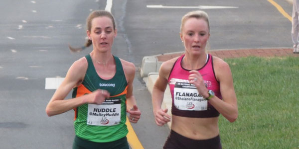 Molly Huddle - Shalane Flanagan