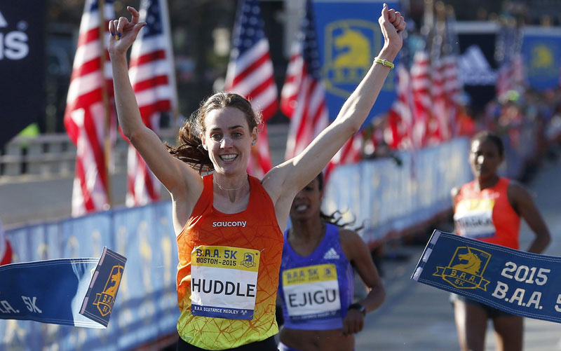 Molly Huddle new US 5k road record